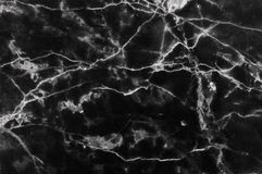 O mármore preto e branco abstrato modelou (o fundo da textura dos testes padrões naturais) Fotografia de Stock Royalty Free