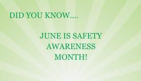 O mês nacional da conscientização da segurança é junho! Fotografia de Stock Royalty Free