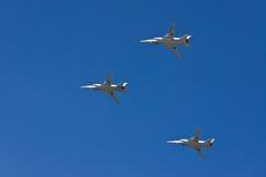 O míssil-bombardeiro supersônico com a asa de geometria variável do Tu-22M3 Foto de Stock Royalty Free