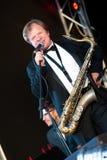 O músico de jazz Igor do russo Butman executa Imagens de Stock Royalty Free