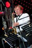 O músico de jazz Igor do russo Butman executa Imagem de Stock Royalty Free