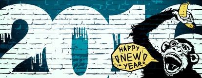 O macaco é símbolo do ano novo ilustração stock