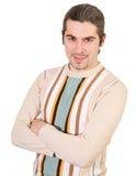 O macho considerável novo na camisola isolou-se Fotografia de Stock Royalty Free