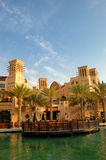 O Madinat Jumeirah o recurso e o hotel árabes Imagens de Stock