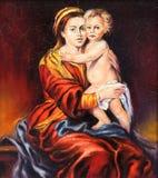 O Madonna com a criança Fotos de Stock