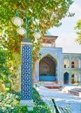 O madraseh de quatro jardins, Isfahan, Irã imagem de stock