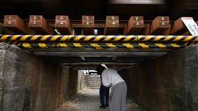 O mais baixo viaduto no Tóquio video estoque