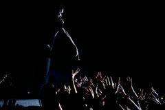 O MAIS CEDO POSSÍVEL rochoso (rapper de Harlem e membro do hip-hop da coletividade da multidão O MAIS CEDO POSSÍVEL) Fotografia de Stock