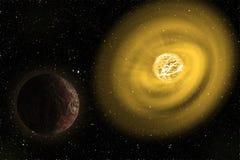 O mais grandes protagonizam na ilustração do universo Elementos desta imagem fornecidos pela NASA ilustração royalty free