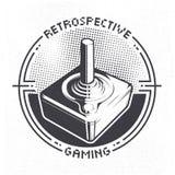 O manche retro do jogo de vídeo 70 do ` s pode ser usado como o crachá, a etiqueta, o emblema, a etiqueta, a bandeira ou o cartaz ilustração stock