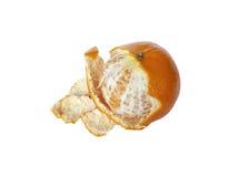 O mandarino com pele não tratada Foto de Stock Royalty Free
