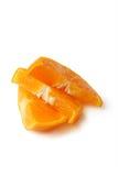 O mandarino cortado Fotografia de Stock