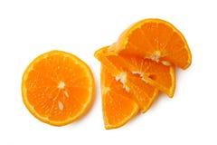 O mandarino cortado Imagens de Stock