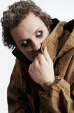 O Maniac esconde-se oneself Fotografia de Stock
