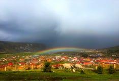 O Maniganggo após a chuva, um arco-íris Foto de Stock Royalty Free