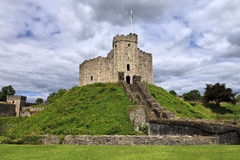 O mantimento do castelo de Cardiff em Gales, Reino Unido Fotos de Stock