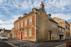 O mantimento, rua do castelo, Frome, Somerset imagens de stock