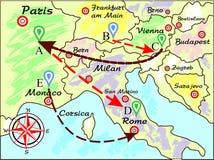 O mapa ilustração stock