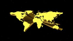 O mapa da terra aparece de hyperspace video estoque