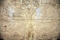 O mapa de mundo antigo Imagens de Stock Royalty Free
