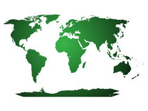 O mapa de mundo, globo ilustrou Foto de Stock