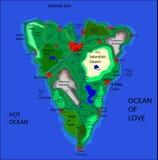O mapa do amor Foto de Stock