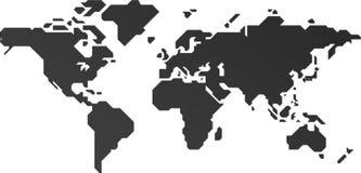 O mapa do mundo ilustração do vetor