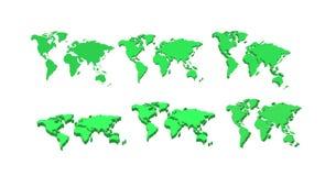 O mapa do mundo 3d no fundo branco ilustração do vetor