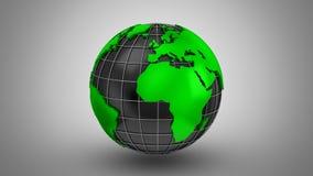 O mapa do mundo transforma em um globo ilustração stock