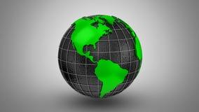 O mapa do mundo transforma em um globo ilustração royalty free