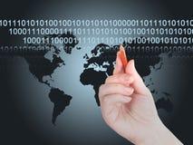 O mapa. Transferência dos dados Imagens de Stock