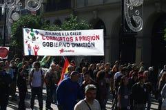 O março da dignidade um protesto 51 Imagem de Stock