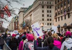 - O março das mulheres - o Washington DC o mais desagradável Imagem de Stock
