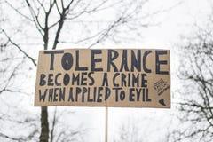 O março das mulheres para a tolerância Fotografia de Stock