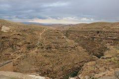 O março Saba Monastery, Laura de nosso pai santamente Sabbas fotos de stock