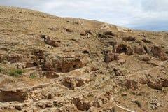 O março Saba Monastery, Laura de nosso pai santamente Sabbas imagem de stock