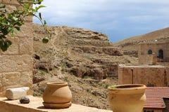 O março Saba Monastery, Laura de nosso pai santamente Sabbas fotos de stock royalty free