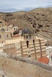 O março Saba Monastery, Laura de nosso pai santamente Sabbas imagens de stock