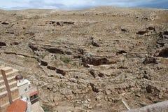 O março Saba Monastery, Laura de nosso pai santamente Sabbas foto de stock royalty free