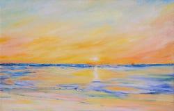 O mar é coberto com o gelo ilustração do vetor