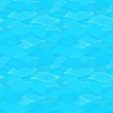O mar acena a ilustração Patte sem emenda da superfície de matéria têxtil do papel de parede Imagem de Stock