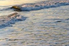 O mar acena o fundo Fotos de Stock Royalty Free