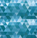 O mar acena o teste padrão do triângulo Fotografia de Stock Royalty Free