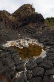 O mar balança 02 com testes padrões bonitos raros em Ganh a Dinamarca Dia Phu Yen Province, Vietname imagem de stock
