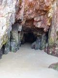 O mar cantábrico cava, Espanha as Astúrias dos portos dos cuevas Fotografia de Stock Royalty Free