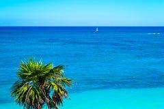 O mar das caraíbas - Tulum, México fotos de stock