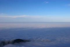 O mar das nuvens Fotografia de Stock