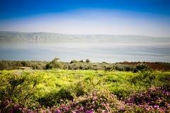 O mar de Galilee fotografia de stock