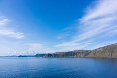 O Mar do Norte, costa norte do norueguês Fotos de Stock
