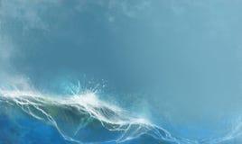 O mar do verão acena o fundo contra o azul ilustração stock